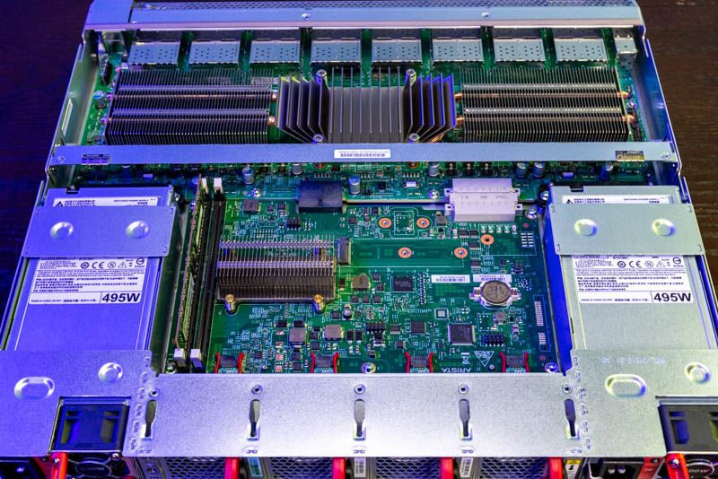 Arista 7060CX 32S Rear Internal With Fans And PSUs