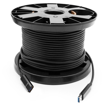50 meters (164ft) USB 3.0 Type-A Active Optical Cables, USB AOC  Male  to Female Connectors