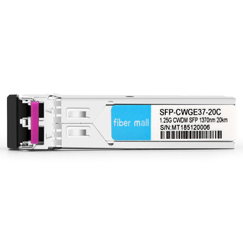 HPE SFP20K-CW1370 Compatible 1.25G CWDM SFP 1370nm 20km LC SMF DDM Transceiver Module