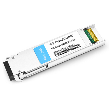 Juniper XFP-10G-CBAND-T50-ZR Compatible 10G Tunable DWDM XFP 50GHz 1529.16nm~1568.36nm 80km LC SMF DDM Transceiver Module
