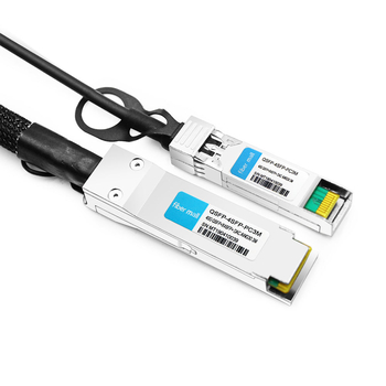 Brocade 40G-QSFP-4SFP-C-0301 Compatible 3m (10ft) 40G QSFP+ to Four 10G SFP+ Copper Direct Attach Breakout Cable