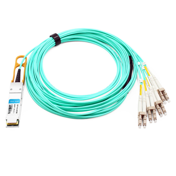 Extreme F10-QSFP-8LC-AOC5M Compatible 5m (16ft) 40G QSFP+ to 8 LC Connector Active Optical Breakout Cable