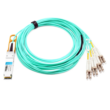 Cisco QSFP-8LC-AOC15M Compatible 15m (49ft) 40G QSFP+ to 8 LC Connector Active Optical Breakout Cable