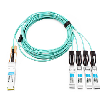 HPE BladeSystem 845420-B21 Compatible 7m (23ft) 100G QSFP+ to Four 25G SFP28 Active Optical Breakout Cable