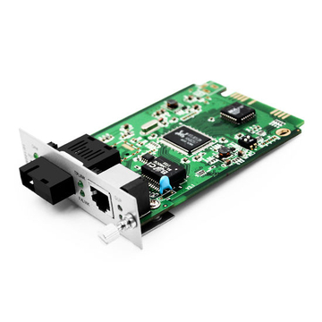 1x 10/100/1000Base-T RJ45 to 1x 1000Base-X SC TX1310nm/RX1550nm 10km SM Single Fiber Gigabit Ethernet Media Converter Card