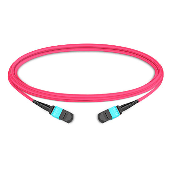 1m (3ft) 12 Fibers Female to Female MTP Trunk Cable Polarity B LSZH Multimode OM4 50/125