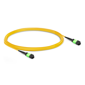 1m (3ft) 12 Fibers Female to Female MTP Trunk Cable Polarity B LSZH OS2 9/125 Single Mode