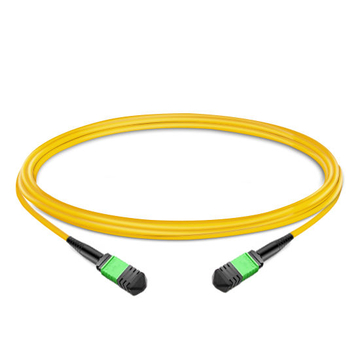 1m (3ft) 12 Fibers Low Insertion Loss Female to Female MPO Trunk Cable Polarity B LSZH OS2 9/125 Single Mode