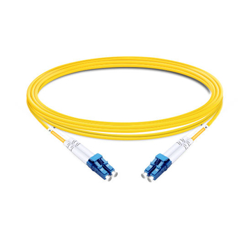1m (3ft) Duplex OS2 Single Mode LC UPC to LC UPC LSZH Fiber Optic Cable
