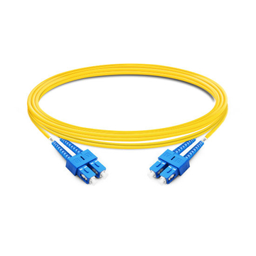 1m (3ft) Duplex OS2 Single Mode SC UPC to SC UPC LSZH Fiber Optic Cable