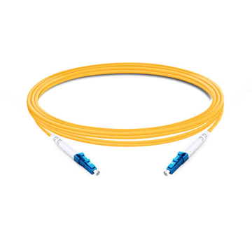 1m (3ft) Simplex OS2 Single Mode LC UPC to LC UPC LSZH Fiber Optic Cable