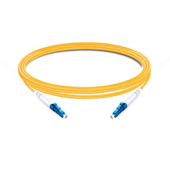 1m (3ft) Simplex OS2 Single Mode LC UPC to LC UPC PVC (OFNR) Fiber Optic Cable