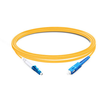 1m (3ft) Simplex OS2 Single Mode LC UPC to SC UPC LSZH Fiber Optic Cable