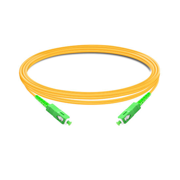1m (3ft) Simplex OS2 Single Mode SC APC to SC APC PVC (OFNR) Fiber Optic Cable