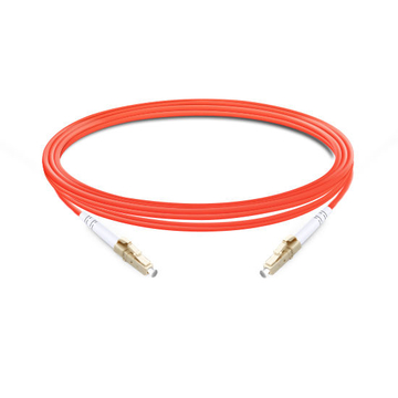 1m (3ft) Simplex OM1 Multimode LC UPC to LC UPC PVC (OFNR) Fiber Optic Cable