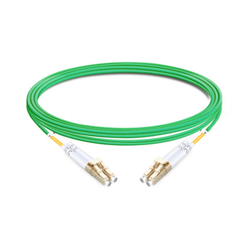 1m (3ft) Duplex OM5 Multimode LC UPC to LC UPC PVC (OFNR) Fiber Optic Cable