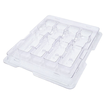 Anti-Static Plastic Packaging Tray for 4-count QSFP+ QSFP28 Transceiver