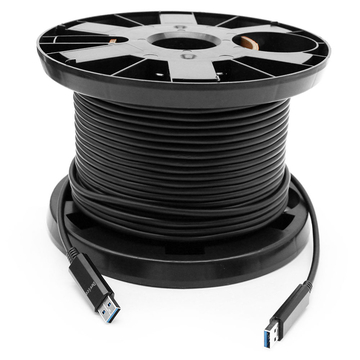 50 meters (164ft) USB 3.0 5G Active Optical Cables, USB AOC Male A to Male A Connectors