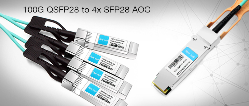 Fibermall 100G QSFP28 AOC Delivered In Large Quantities